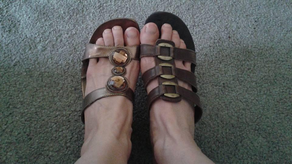 Mismatched Sandals